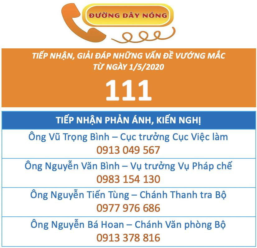 National Hotline 111 receives information about the 62 trillion VND support package