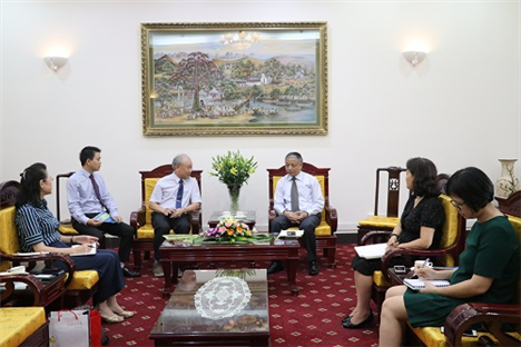Deputy Minister Doan Mau Diep receives Vice Chairman of Taipei Employment Service Institute Association