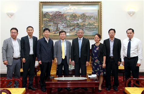 Deputy Minister Doan Mau Diep received the Vice Chairman of the Korea Human Resources Development Agency